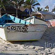 Progreso Mexico Fishing Boat Art Print