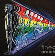 Projection With Rainbow Scroll Border Art Print