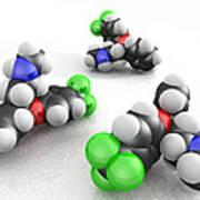Prozac Molecules Art Print by Phantatomix