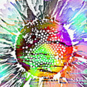 Psychedelic Daisy 2 Art Print