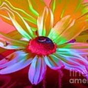 Psychedelic Flower Art Print by Doris Wood