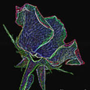 Psychedelic Rose Art Print