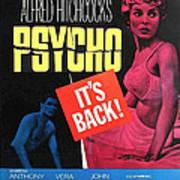 Psycho, Top Left Anthony Perkins Top Art Print