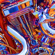 Psychodelic Chopper-1 Art Print
