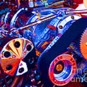 Psychodelic Supercharger-1 Art Print