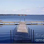 Public Dock On Chautauqua Lake Art Print