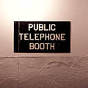 Public Phone Booth Art Print