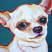White Chihuahua - Puddy Art Print