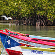 Puerto Rican Fishing Boats Art Print