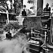 Puffing Billy Black And White V2 Art Print