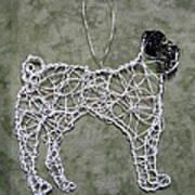 Pug Print by Charlene White