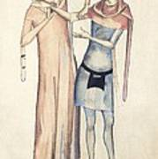 Pulse Measurement, 14th Century Artwork Art Print
