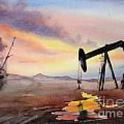 Pumping For Gold Art Print