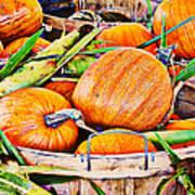 Pumpkin And Corn Combo Art Print