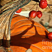 Pumpkin Berries Art Print