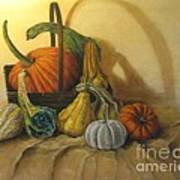 Pumpkin In A Basket Art Print