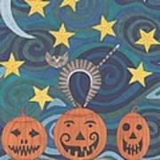 Pumpkin Perch Art Print