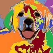 puppy Portrait 7 Art Print