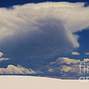 Pure White Sand And Mountain Storms Art Print