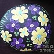 Purple And Yellow Flowers Art Print by Monika Shepherdson