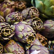 Purple Artichokes At The Market Art Print