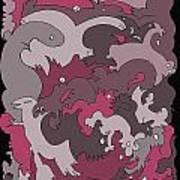 Purple Creatures Art Print