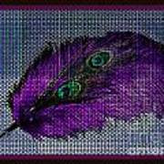 Purple Feather Art Print