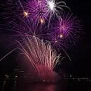 Purple Fireworks Art Print