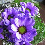 Purple Flowers In The Bubble Art Print