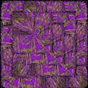 Purple Green Turmoil Art Print