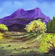 Purple Mountain Beauty Art Print by Janna Columbus