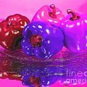 Purple Peppers Art Print