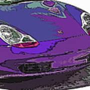 Purple Porsche Nose 2 Art Print by Samuel Sheats