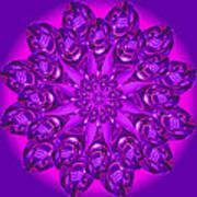Purple Spoonz Art Print by Linda Pope