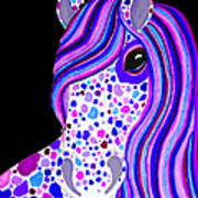 Purple Spotted Horse Art Print