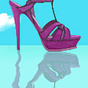 Purple Stilt Stilettos Reflections Art Print