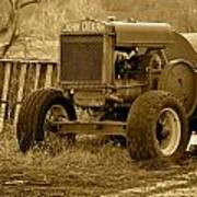 Put Out But Not Abandoned In Sepia Art Print