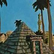 Pyramid Tomb In Cemetary Art Print