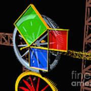 Pythagorean Machine Landscape 1 Art Print