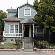 Quaint House Architecture - Benicia California - 5d18594 Print by Wingsdomain Art and Photography