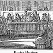 Quaker Marriage, 1842 Art Print