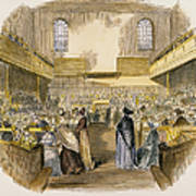 Quaker Meeting, 1843 Art Print