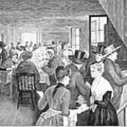 Quaker Meeting, 1888 Art Print