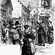 Quaker Preaching, 1657 Art Print