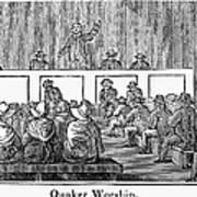 Quaker Worship, 1842 Art Print