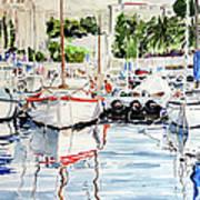 Quattro Barche Al Pennello Di Bonaria Art Print