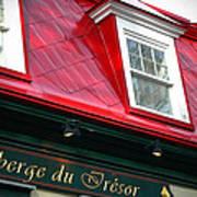 Quebec City -auberge Art Print