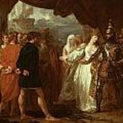 Queen Philippa Interceding For The Lives Of The Burghers Of Calais Art Print by Benjamin West