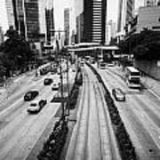 Queensway And Queens Road East In The Admiralty District Hong Kong Island Hksar China Art Print