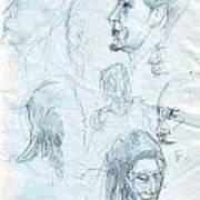 Quick Sketches Art Print
